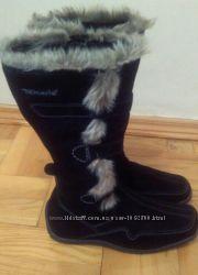 Зимние замшевые сапоги Tamaris, 38 размер.