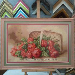 Рамка для вышивки бисером, крестиком, лентами. Багет 29