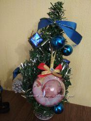 Елочный шар с фото, игрушка на елку с фото