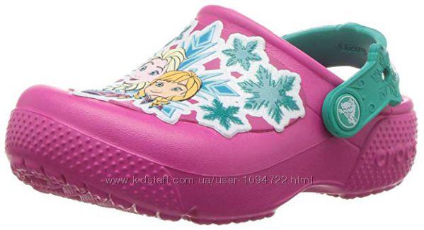 Crocs 34-35 размер с мотивами Frozen. Яркие и практичные