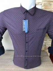 Рубашки мужские длинный рукав