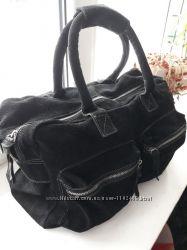 Большая дорожная замшевая сумка унисекс