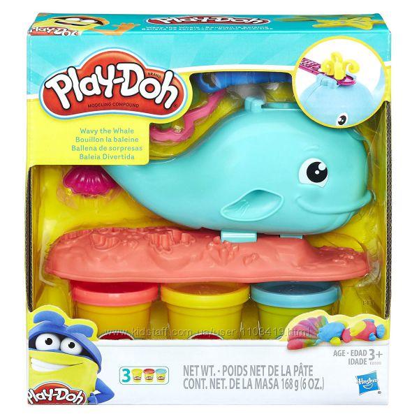 Play-Doh Wavy the Whale набор пластилина Плей до Кит Дельфин Hasbro
