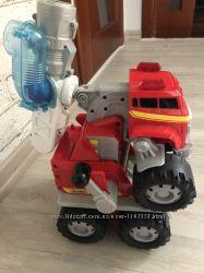 Большая музыкальная говорящая пожарная машина- трансформер Matchbox