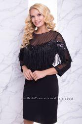 0d6dbd20551 Великолепное вечернее платье черное р. 50 52 54 56
