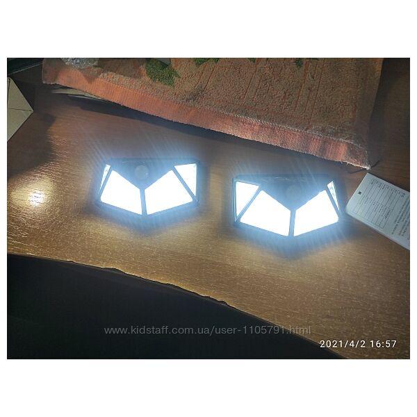 Яркий уличный фонарь на 100 led лампочек от солнечной батареи.
