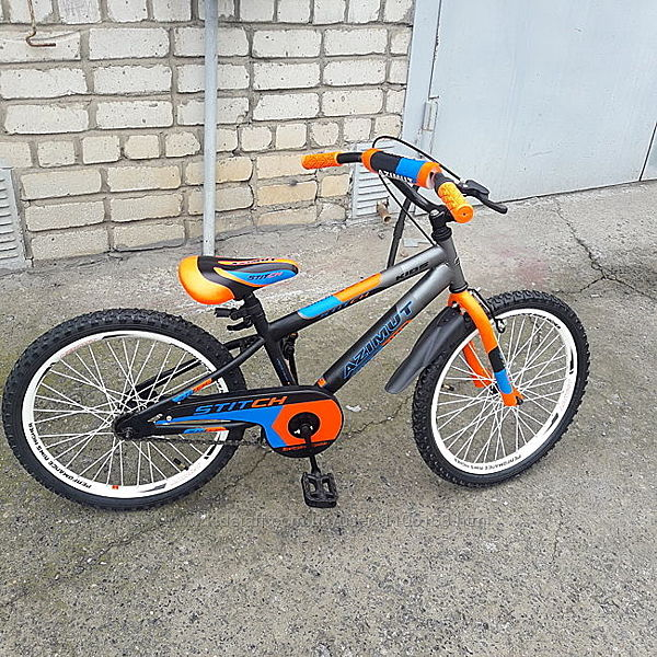 Азимут Стич 12 14 16 18 20 дюймов Azimut Stitch детский двухколесный велоси