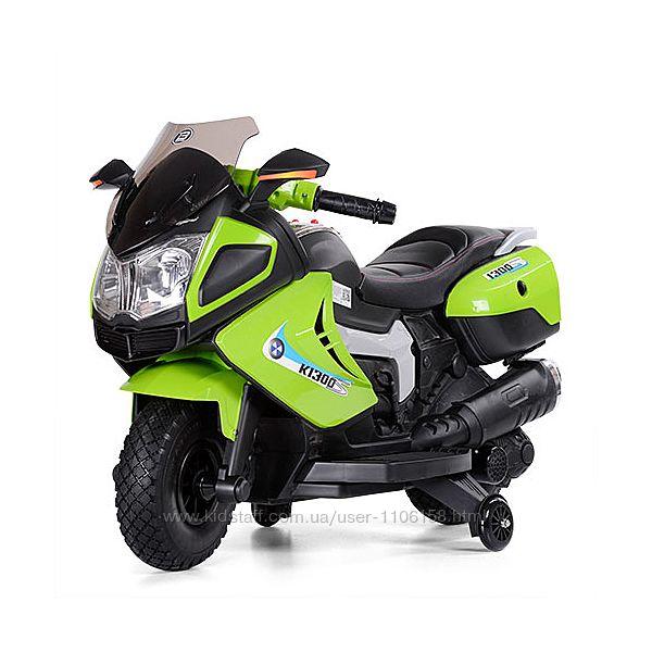 Электро мотоцикл 3625EL детский от 3 лет с приставными колесами