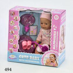 Пупс варм 8060 warm baby кукла с магнитной соской аксессуарами аналог борн