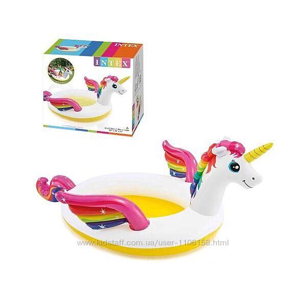 Intex 57441 Единорог детский надувной бассейн Интекс
