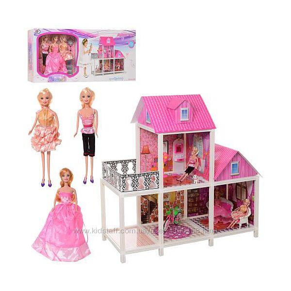 Двухэтажный кукольный домик с мебелью 66883