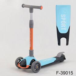 Самокат трехколесный складной best scooter sport легкий алюминиевый