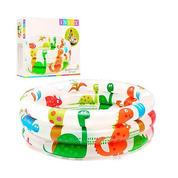 Intex 57106 динозаврики детский надувной бассейн интекс