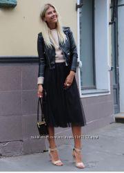 Шикарная фатиновая юбка миди из евросетки