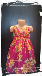 Платье летнее, яркое, в цветах, 4-5л, George