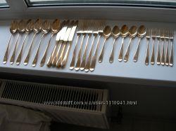 Столовые приборы, ложки, вилки, ножи, бронза, Англия, 26 шт