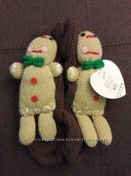 Новогодние тапочки-носочки разм. 23-25 см