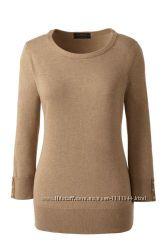 Хлопковый пуловер большой размер 54-56 рукав 3&924