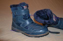 Зимние теплющие кожаные термо ботинки натуральная цигейка р. 37 - 24 см