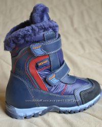 Зимние теплющие кожаные термо ботинки, натуральная цигейка 26-31