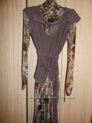 Платье-миди с элегантным жилетом 48 укр. размер
