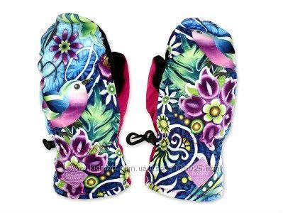 Теплые и удобные варежки краги рукавицы 2-5 лет девочкам