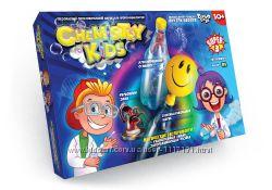 Набор для опытов CHEMISTRY KIDS Danko Toys 3 опыта 4 вида.
