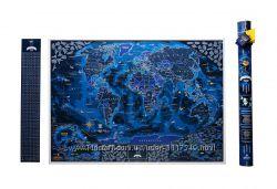 Морская скретч-карта мира My Map Discovery edition англ. язык в тубусе
