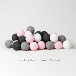 Тайские LED-гирлянды на 35 шариков - разные расцветки