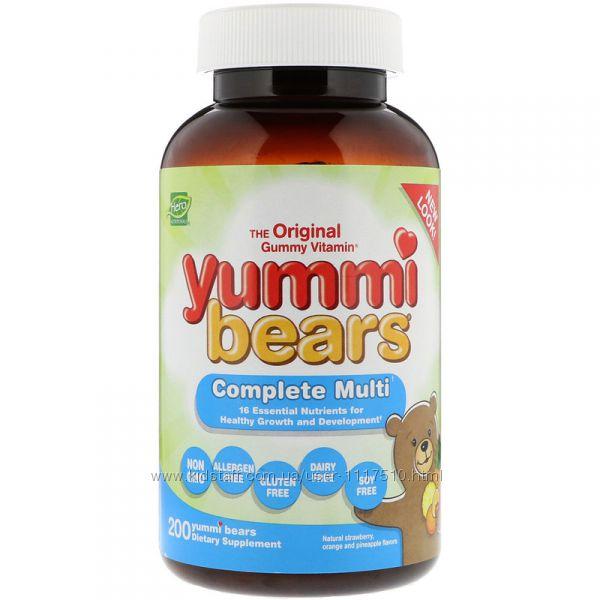 iHerb. Hero nutritional products, Yummi Bears, мультивитамин, 200 шт.