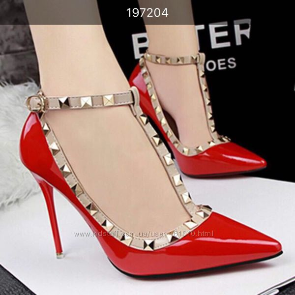 Красные удобные  туфли Наличие