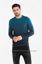 Градиентный хлопковый свитерок из Германии с сайта C&A, р-ры S, 2XL