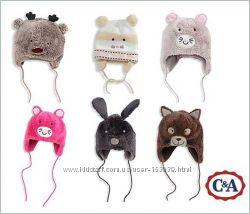 Шапули для малышей на меху и флисе с немецкого сайта C&A, все в наличии