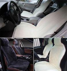 Накидка на сиденье автомобиля из натурального меха овчины мутона белый