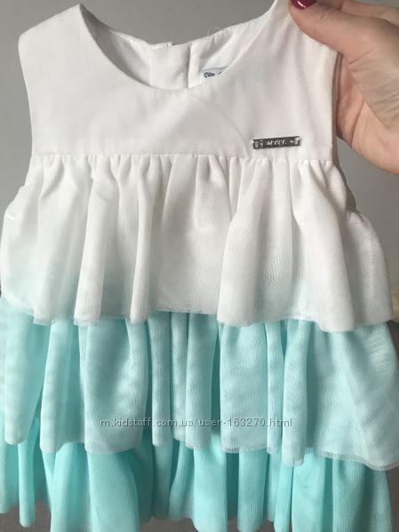 Нарядное платье для девочки mayoral 80