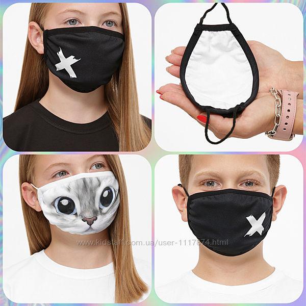 Детская маска двухслойная, многоразовая, Принт 13 Маска-Д 6-П