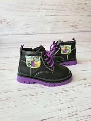 Демисезонные ботинки для девочек, 26-30р, GFB Канарейка, B7217-2