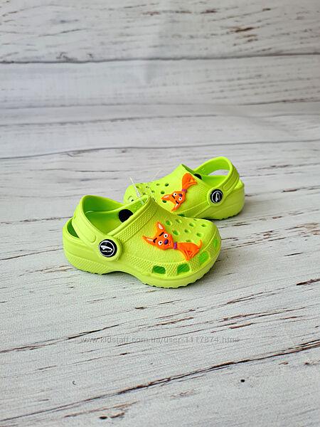 18-23р Детские кроксы сабо пляжная обувь для детей Luckline 3001-188