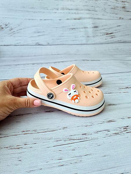 26-29р Детские кроксы сабо пляжная обувь для девочек Luckline, 3002-247