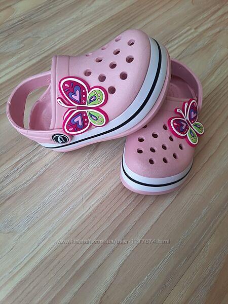 18-23р Детские кроксы сабо пляжная обувь для девочек Luckline 3002-186