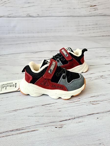 22-26р Кожаные кроссовки на плюше унисекс Zdlong 9908