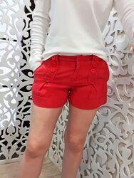 Шорты женские бренд Topshop S красные с карманами стильные летние
