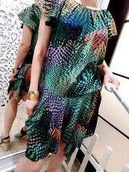 Эксклюзивное дизайнерское цветное платье от asos летнее xs-s зеленое