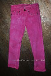 Джинсы Denim розовые яркие на девочку 9-10 лет рост 140 см