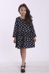 Платье детское повседневное, нарядное, в сердечки