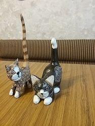 Новая фигурка статуэтка коты ручная работа Индонезия подарок handmade