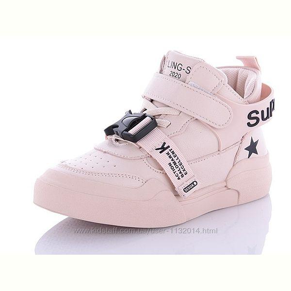 Модные ботинки кроссовки хайтопы Lilin Shoes 31-36 размеры