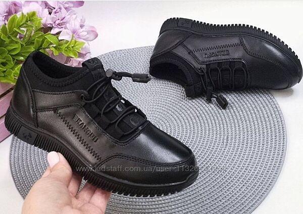 Кожаные школьные мокасины туфли 31-36 размеры в наличии