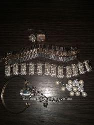 Браслет серебряный цепочка украшение подвеска