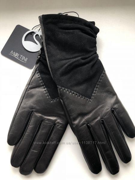 Кожаные перчатки Moltini